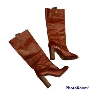 Miss Sixty - Knee High Boots / Stack Heels / Leather / Sz. 38